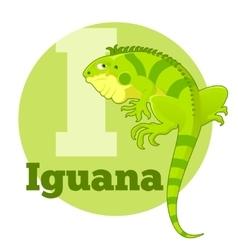 Abc cartoon iguana vector