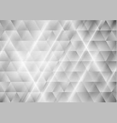 abstract tech grey triangles geometric background vector image vector image