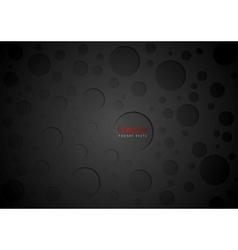 Black abstract circles background vector image vector image