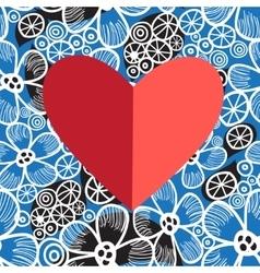 Bright festive heart vector image vector image