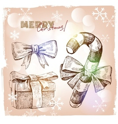 Christmas hand drawn vector image