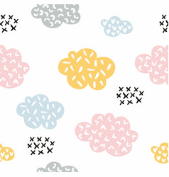 Clouds seamless stylized pattern with clouds for vector