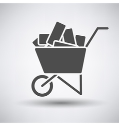 Construction cart icon vector image