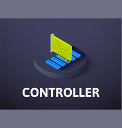 Controller isometric icon isolated on color vector