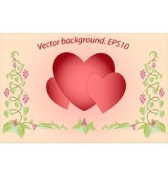 Decorative colorful floral hearts Eps10 vector image vector image