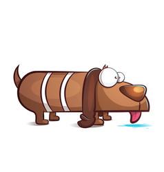 funny cute cartoon dog characters vector image vector image