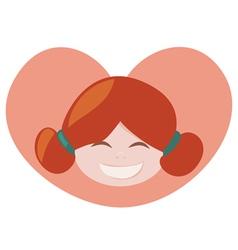 ginger lovely girl vector image