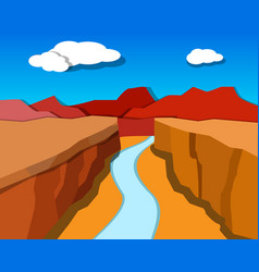 Grand canyon in origami style vector
