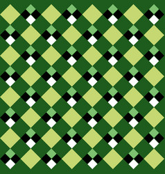 Green argyle seamless pattern vector
