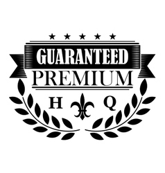 Guaranteed premium banner in retro style vector image