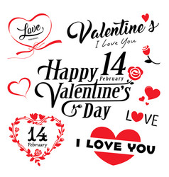 happy valentines day message collections vector image