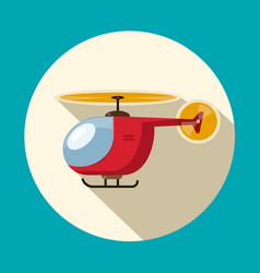 Helicopter flat design symbol icon vector