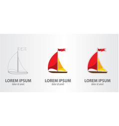 logo ship vector image vector image