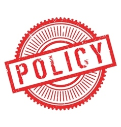 Policy stamp rubber grunge vector