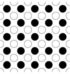 Seamless black and white circle pattern vector