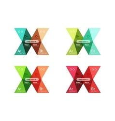 Set of color abstract arrow option infographic vector image vector image