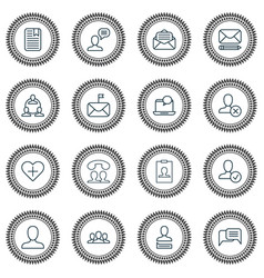social icons set collection of chatting vector image vector image