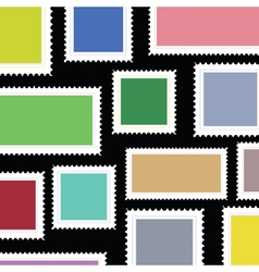 stamps background vector image vector image