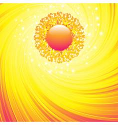 summer sun and sky vector image vector image