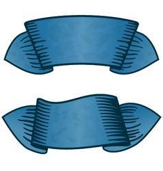 Vintage ribbon vector image vector image