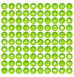 100 webdesign icons set green vector