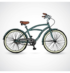 Vintage bicycle - vector