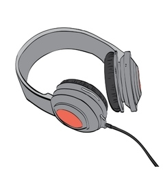 Headphones audio and music vector