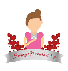 Happy mothers day card celebrate party vector