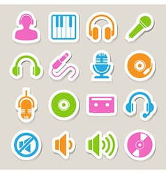 Music icon set EPS10 vector image