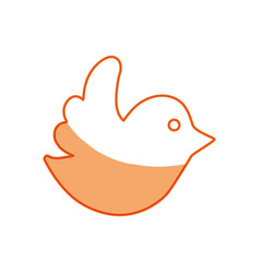 Silhouette dove of twitter icon design vector