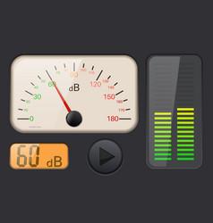 Decibel gauge vector