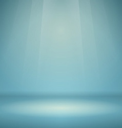 Blue empty scene vector