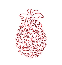 Easter ornamental egg in floral style vector