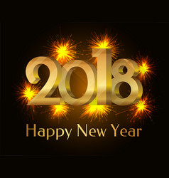 2018 happy new year poster vector