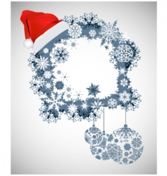 Christmas design frame vector