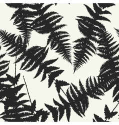 Seamless pattern of fern leaves vector