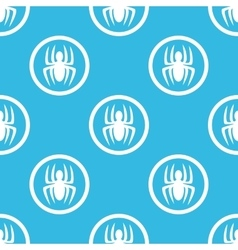 Spider sign blue pattern vector