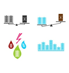 battery fuel electricity vector image