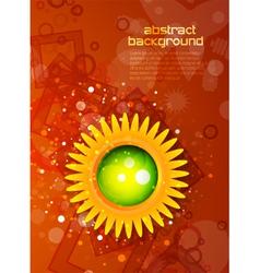 modern sunflower vector image