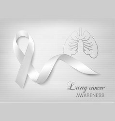 Lung cancer awareness ribbon vector