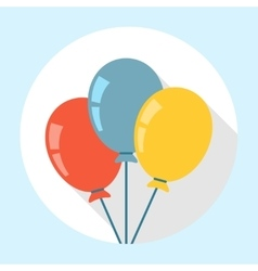 Balloons icon flat vector