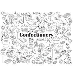 Confectionery colorless set vector