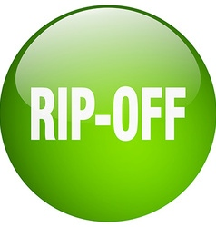 Rip-off green round gel isolated push button vector