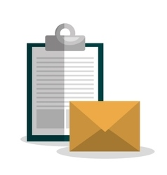 Clipboard and envelope design vector