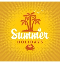 Travel banner summer vacation vector image