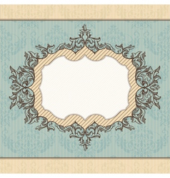 Abstract retro royal vintage frame vector