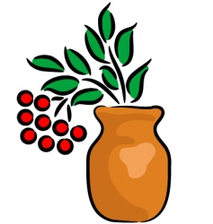 arrow-wood in the vase vector image vector image
