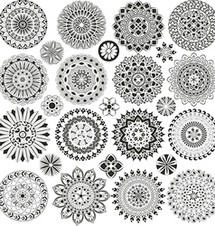 Big set of mandalas vector image vector image
