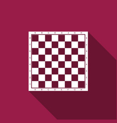 Chess board flat icon with long shadow vector