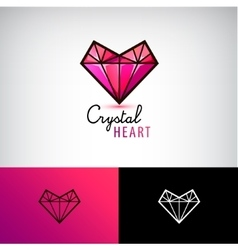 chrystal heart icon jewelry logo Love vector image vector image
